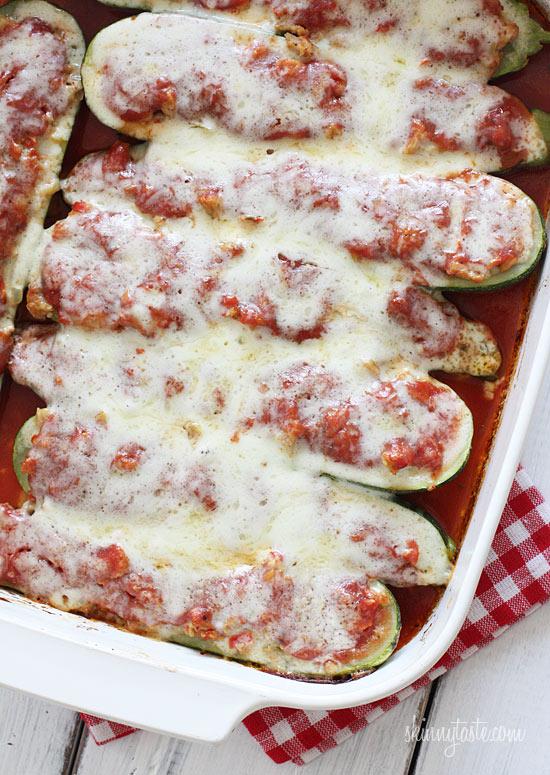 Sausage-stuffed-zucchini-parmesan
