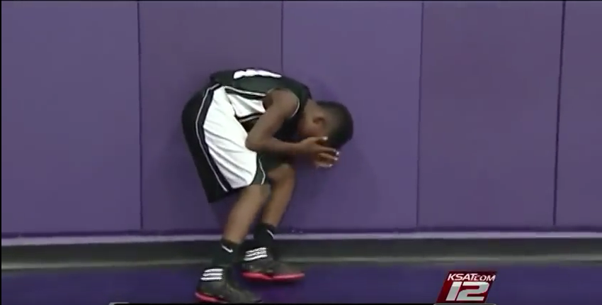 See why this 8th grade boy is brought to tears…