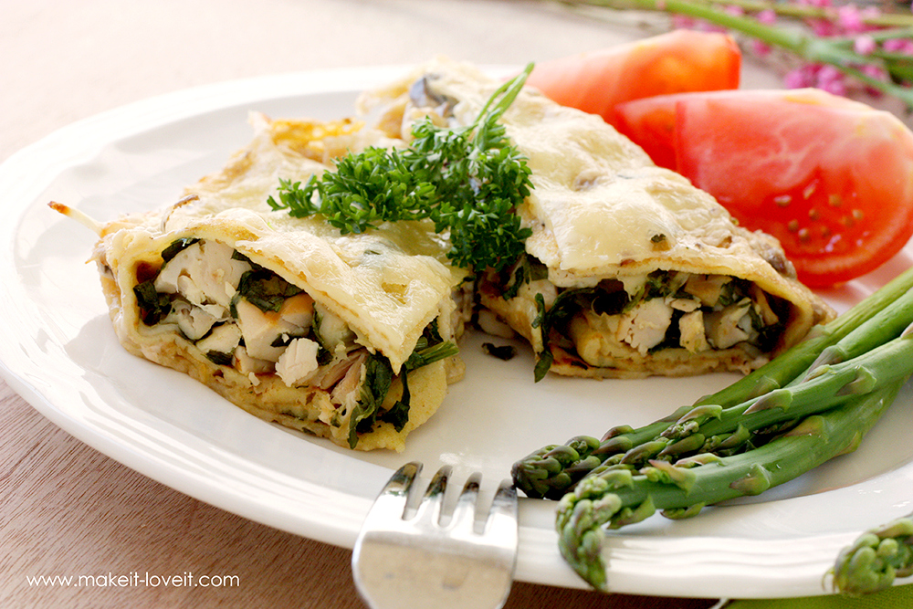 Swiss Chicken Crepes with Spinach (...Gluten Free version included) | via Make It and Love It