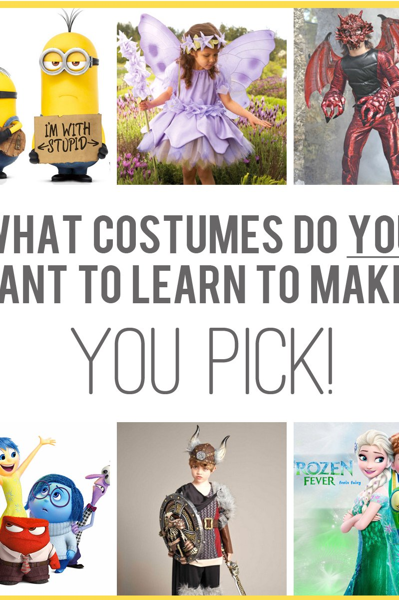 Halloween Costume Thoughts -- what do YOU want to make? (...then let's VOTE!)