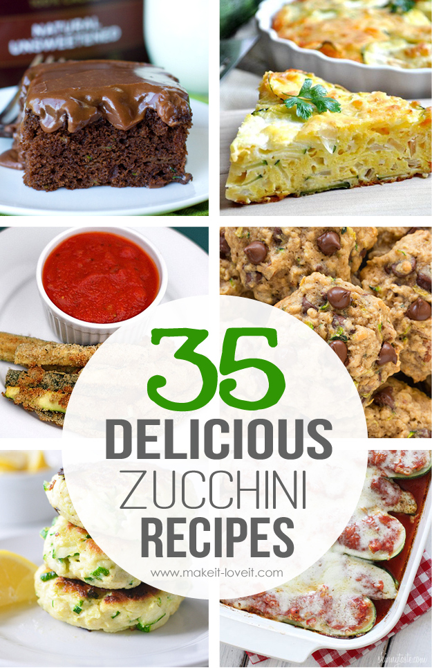 35 Delicious Zucchini Recipes | via www.makeit-loveit.com
