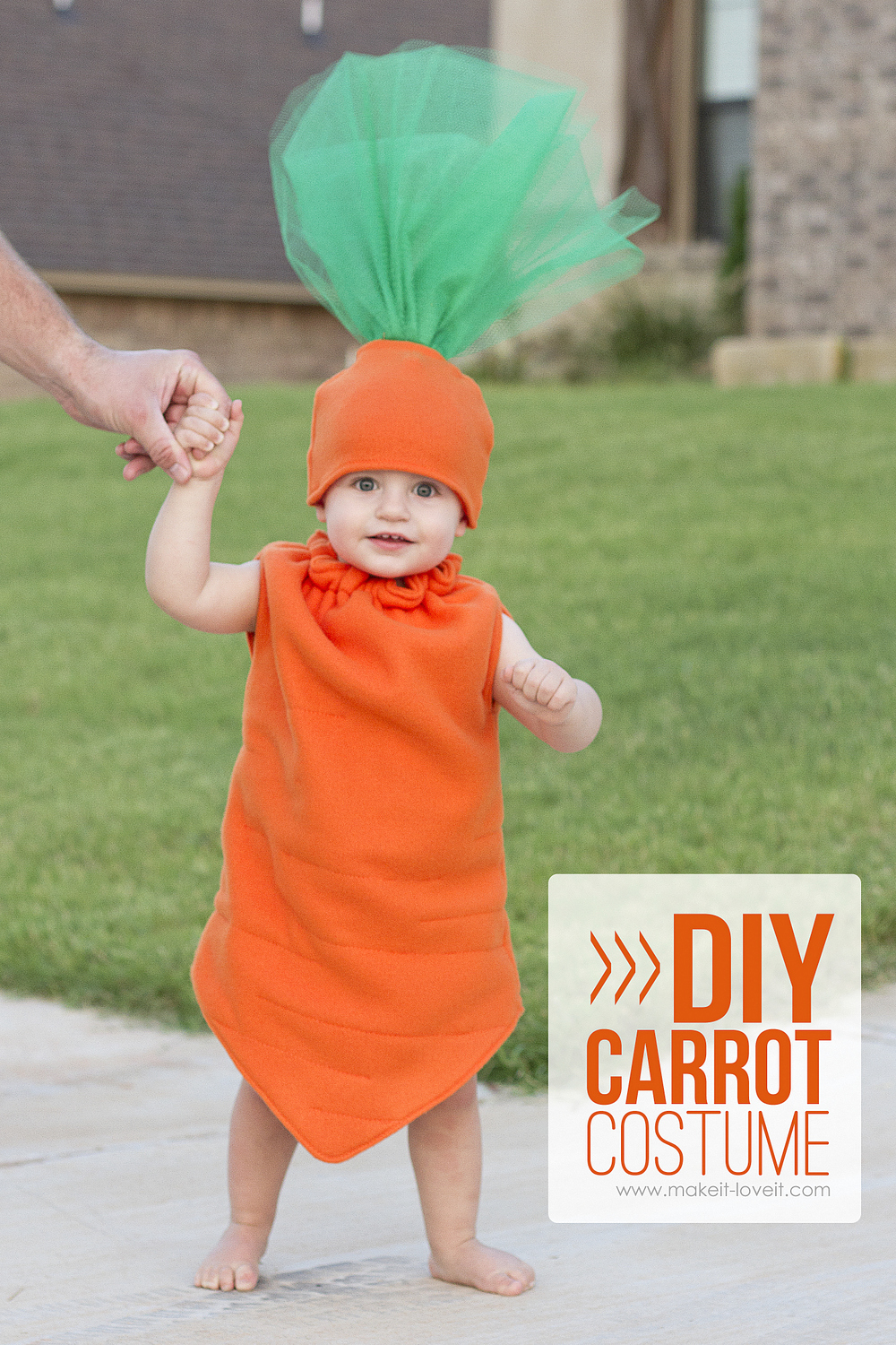 DIY Carrot Costume 1