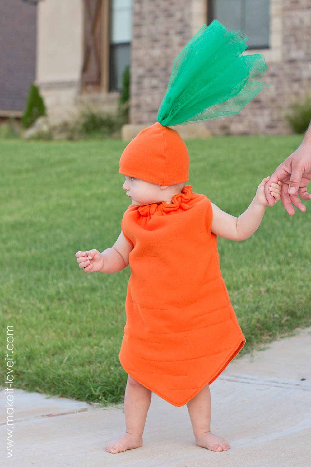 The Toddler Carrot Costume is a pretty healthy choice for your child. Little ones in need of an outfit for various occasions can wear this one. Whether during Halloween, Easter and other events, it is perfect!
