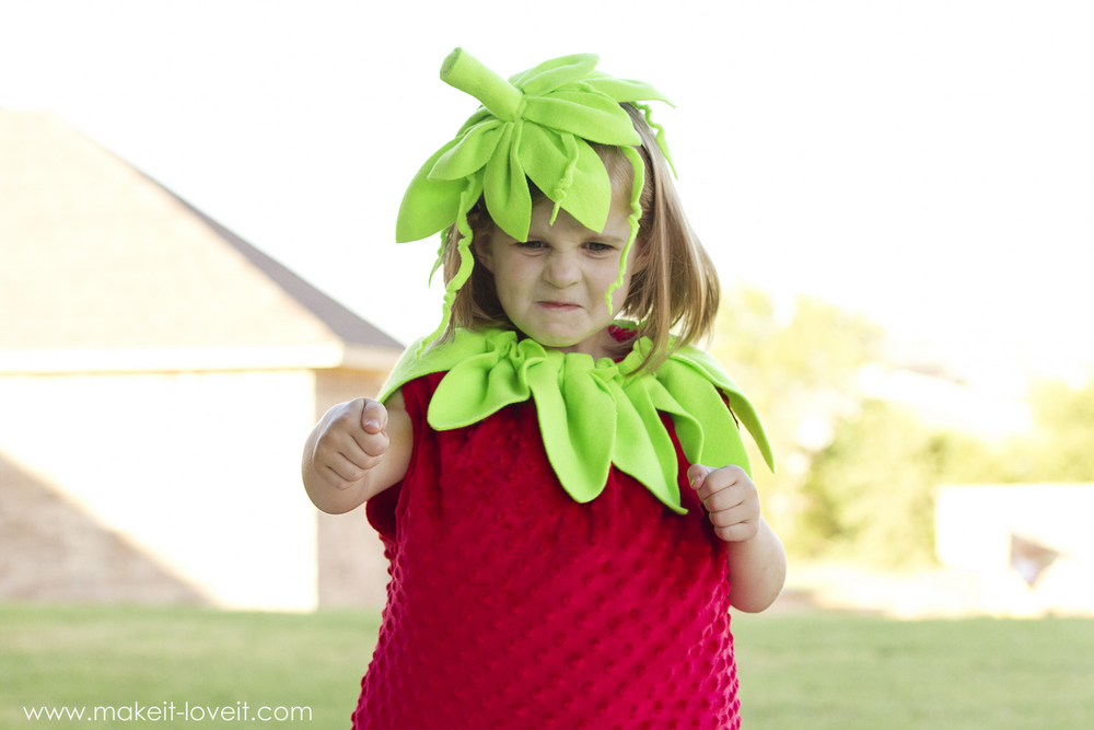 DIY Strawberry Costume...a tutorial, plus one to GIVE AWAY! | via Make It and Love It