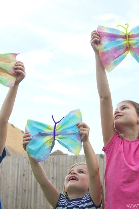"Life can be crazy with 4 kids…PLUS, a ""Butterfly Craft"""