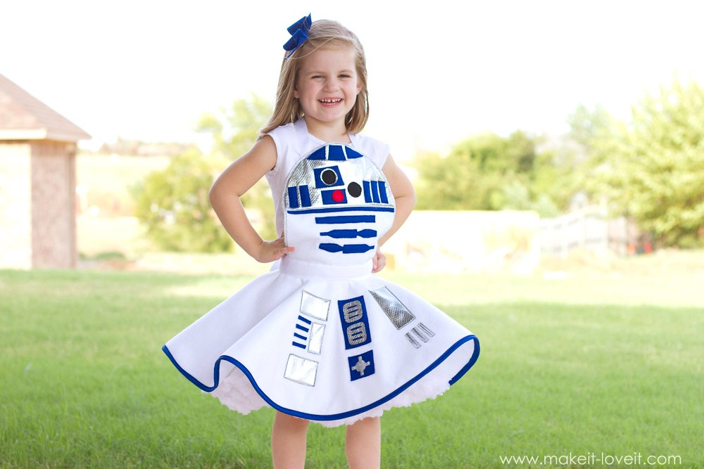 And thatu0027s pretty cool when it comes to making something that is only worn for dress-up!  sc 1 st  Bloglovin & Star Wars R2-D2 Dress Costume FOR GIRLSu2026plus one to GIVE AWAY ...