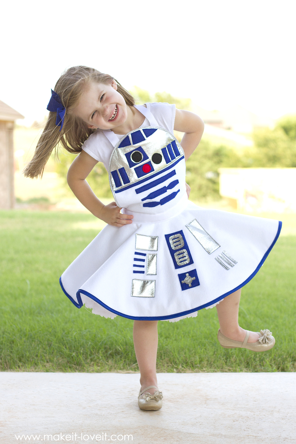 Star Wars R2D2 Dress Costume for girls 17