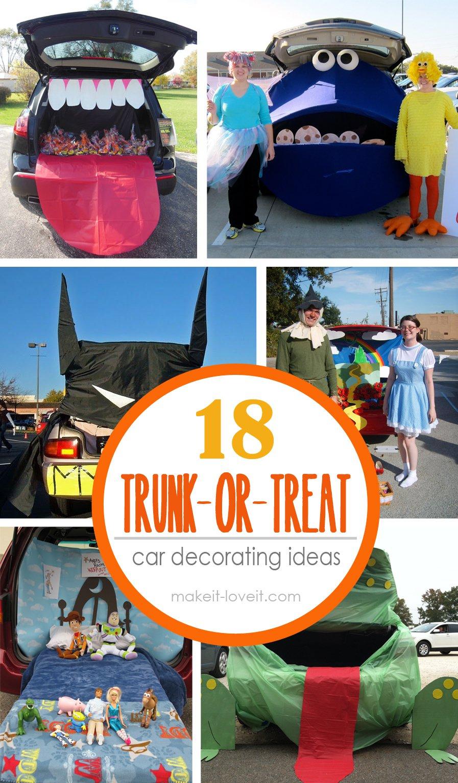 18 trunk or treat ideas