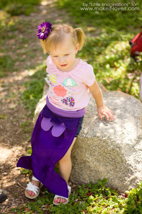 DIY Mermaid Tail and Seashell Top...great for a costume or dress-up! | via Make It and Love It