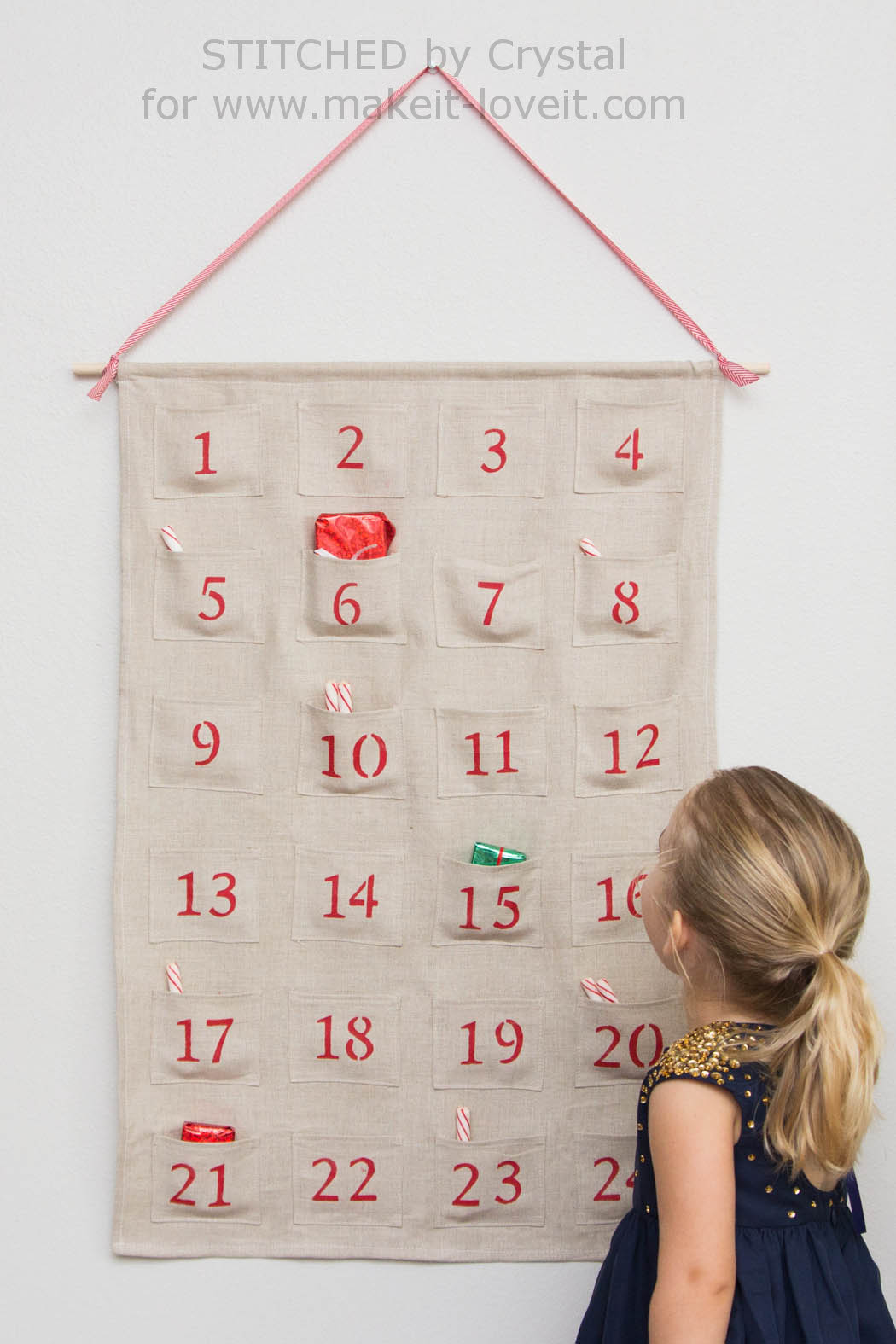 sew a simple advent calendar for christmas make it