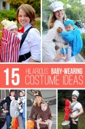 15 Hilarious Baby-Wearing Costume Ideas! | via Make It and Love It