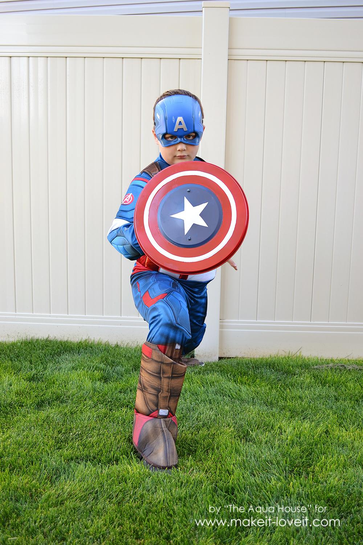 DIY Captain America Shield -- an IKEA Hack | via Make It and Love It