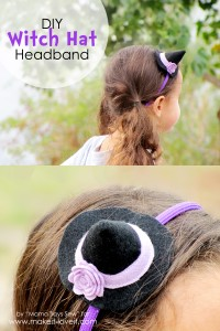 DIY Witch Hat Headband....a great last minute costume! | via Make It and Love It