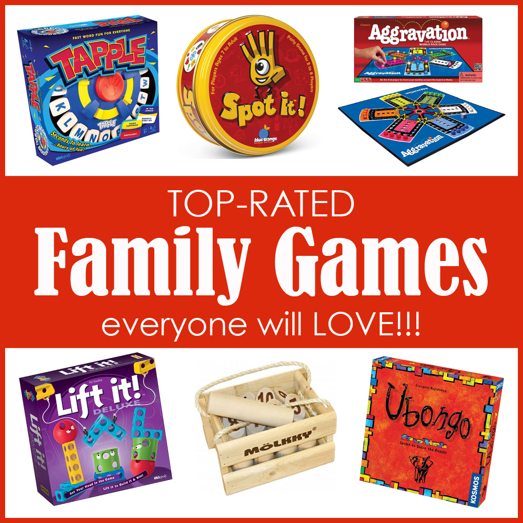 Gift Guide: 20 Top-Rated FAMILY GAMES…everyone will LOVE!