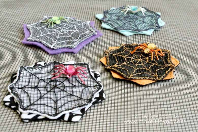 Spider Web Hair Clips