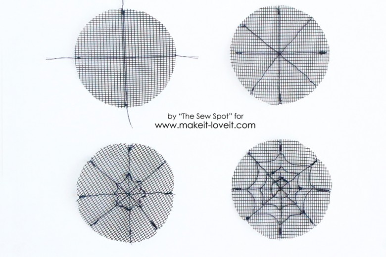 Sew Spider Web
