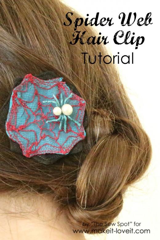 Spider Web Hair Clip Tutorial