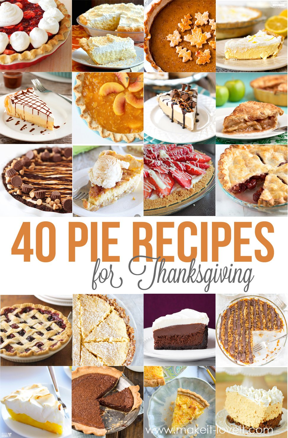 40 of the BEST Pie Recipes for Thanksgiving!