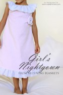 Girl's Nightgown made from receiving blankets