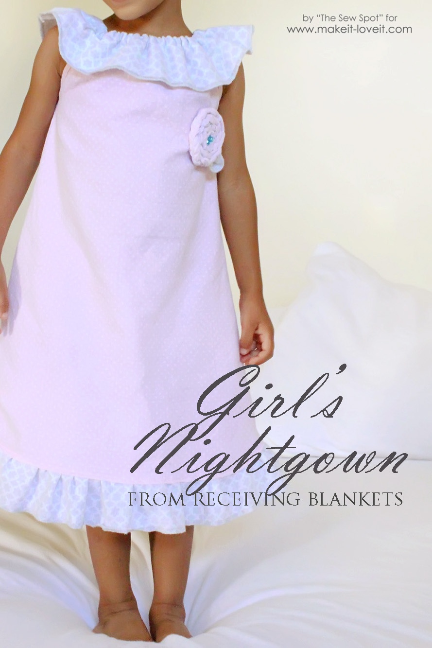 Girl's Nightgown from Receiving Blankets