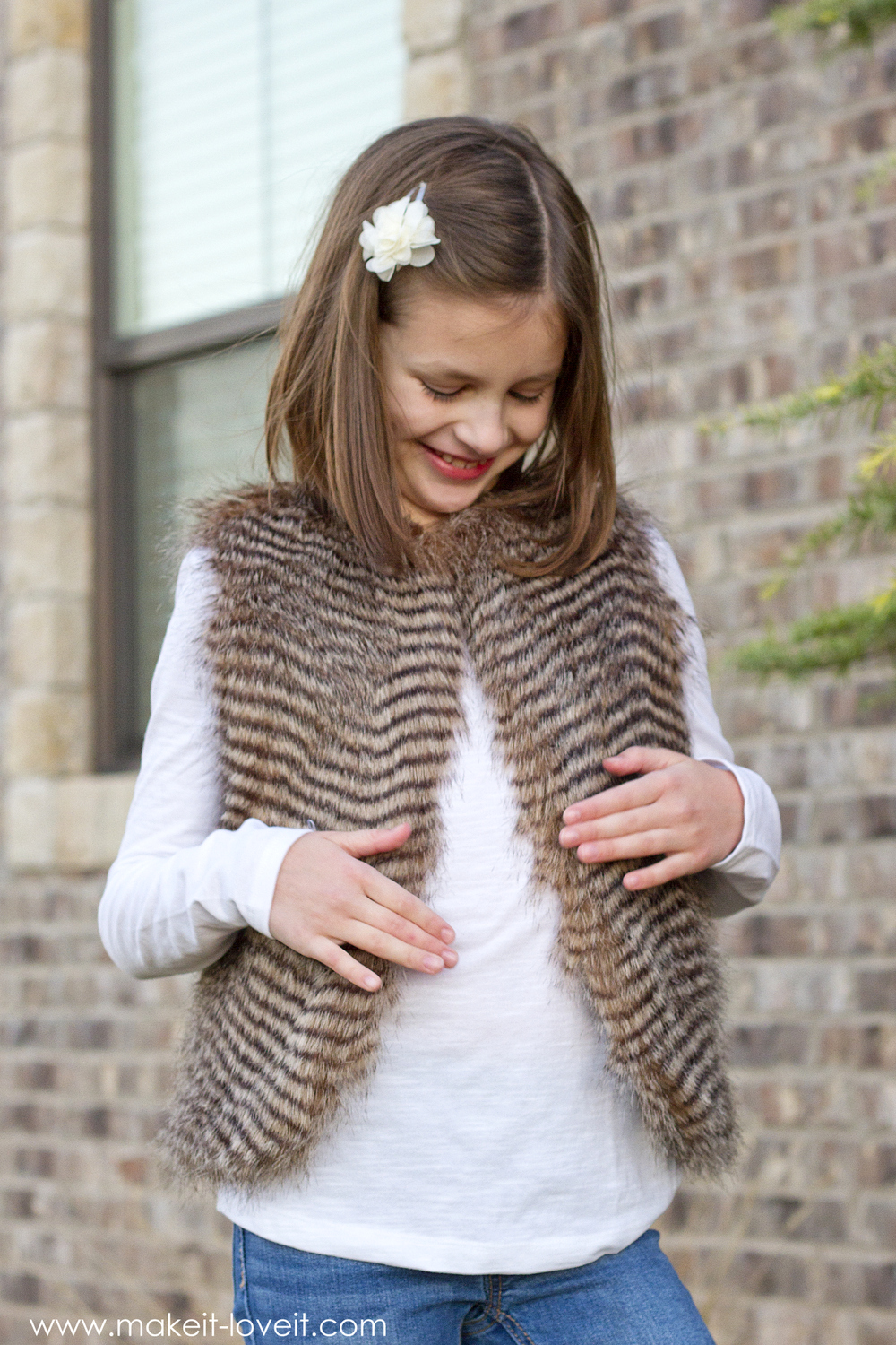 Make a FAUX FUR VEST…easier than you might think!