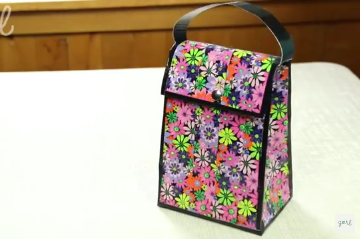 DIY Duct Tape Lunch Bag