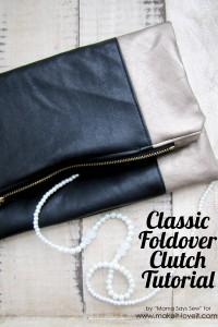 classic foldover clutch tutorial
