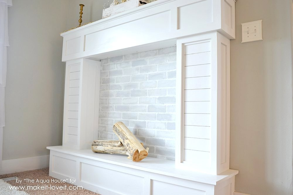 Fireplace Design faux fireplace : Make a FAUX FIREPLACE WITH HEARTH...that looks absolutely real ...