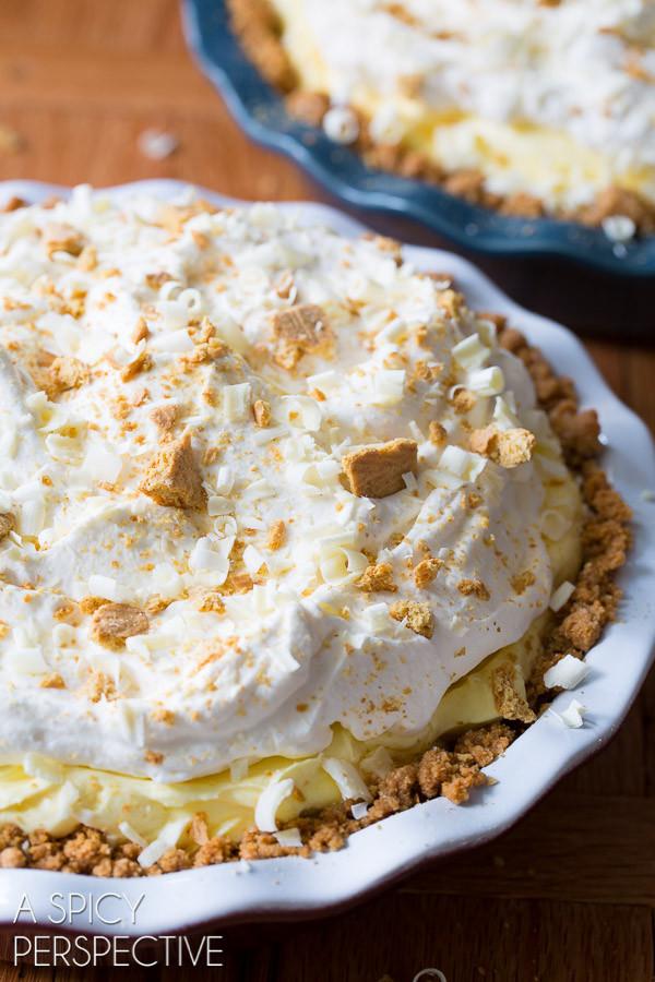 Lemon Cream Pie via A Spicy Perspective