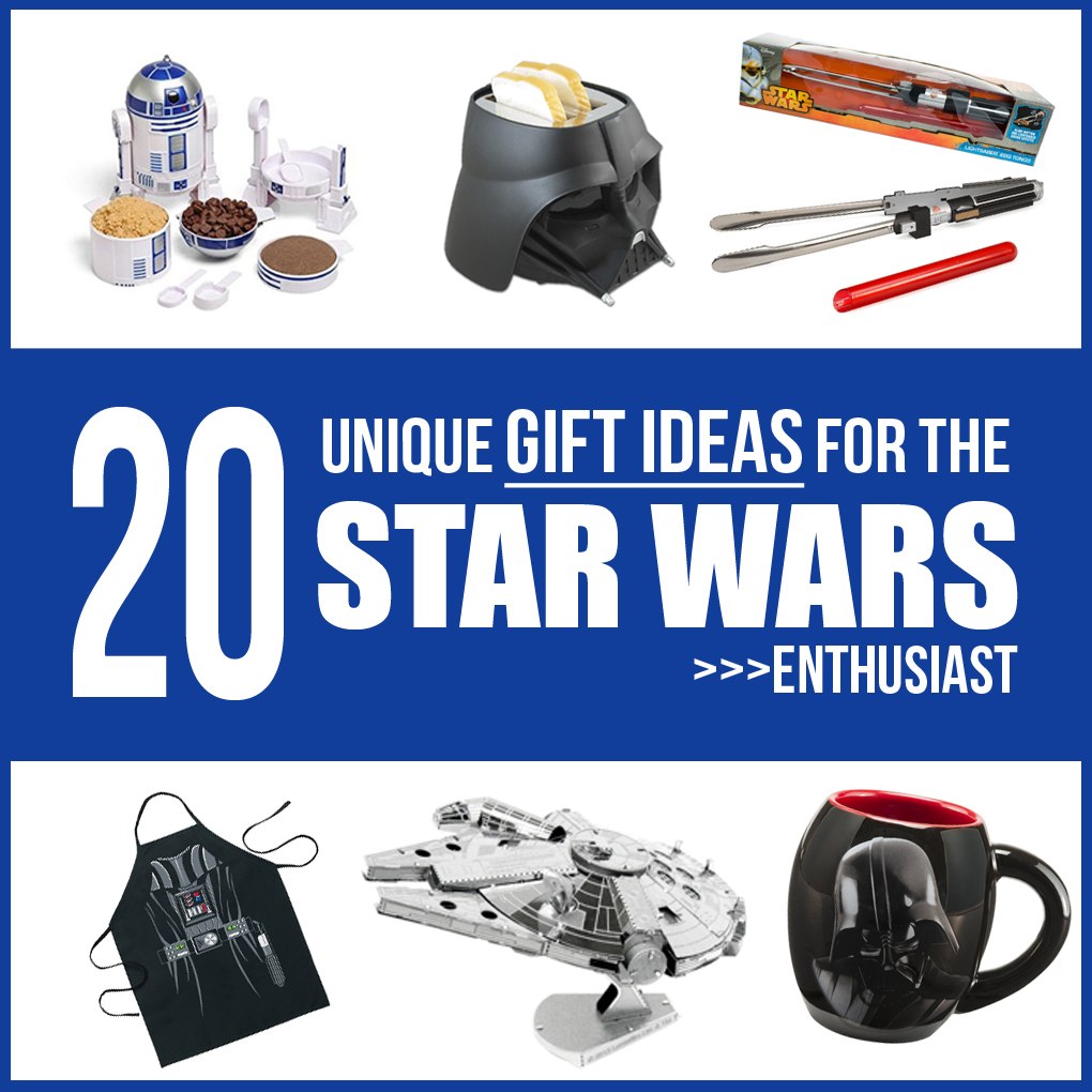 Gift Guide: 20 unique Ideas for the STAR WARS enthusiast!!!