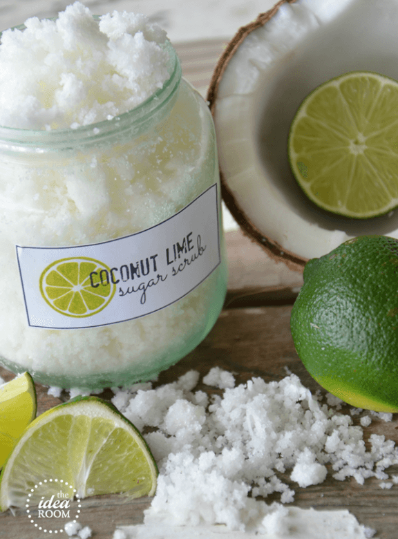 Homemade Sugar Scrub {Coconut Lime}