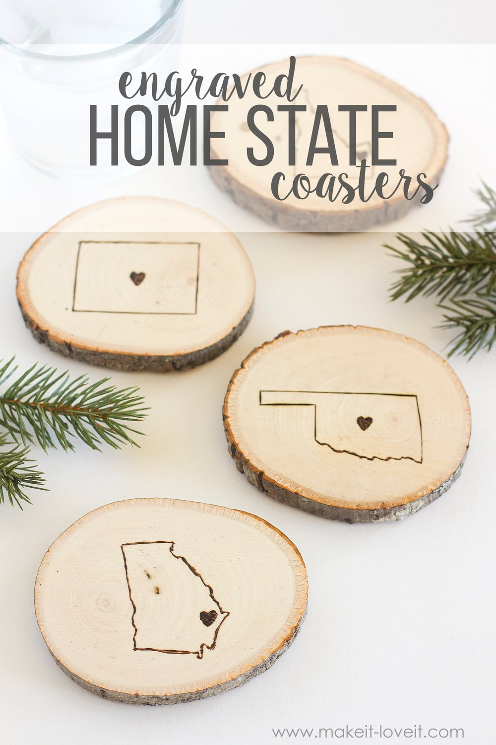 Engraved State Home Coasters 1