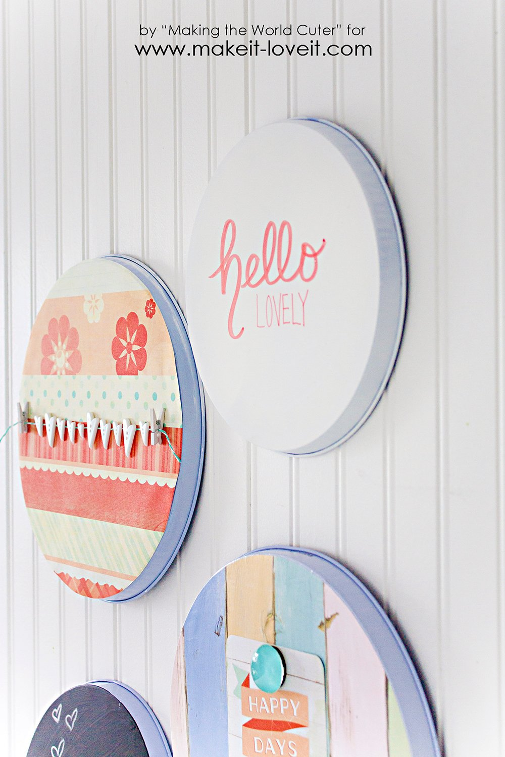 Dollar Store Burner Cover Art.....quick and inexpensive decor!   via Make It and Love It