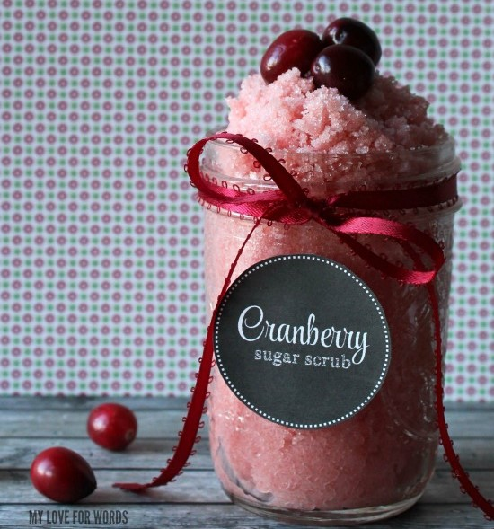 Cranberry DIY Sugar Scrub Recipe