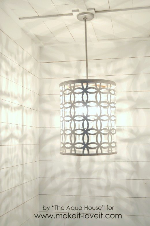 DIY Light Fixture...from a drum | via Make It and Love It