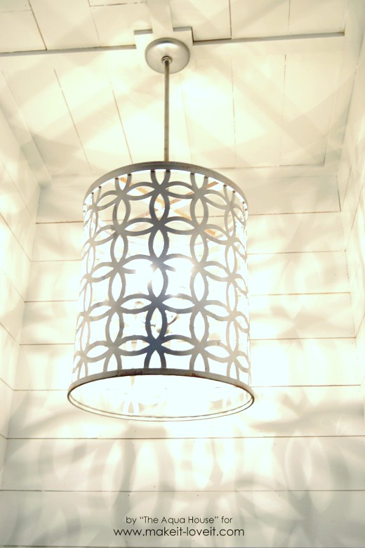 DIY Light Fixture…from a drum