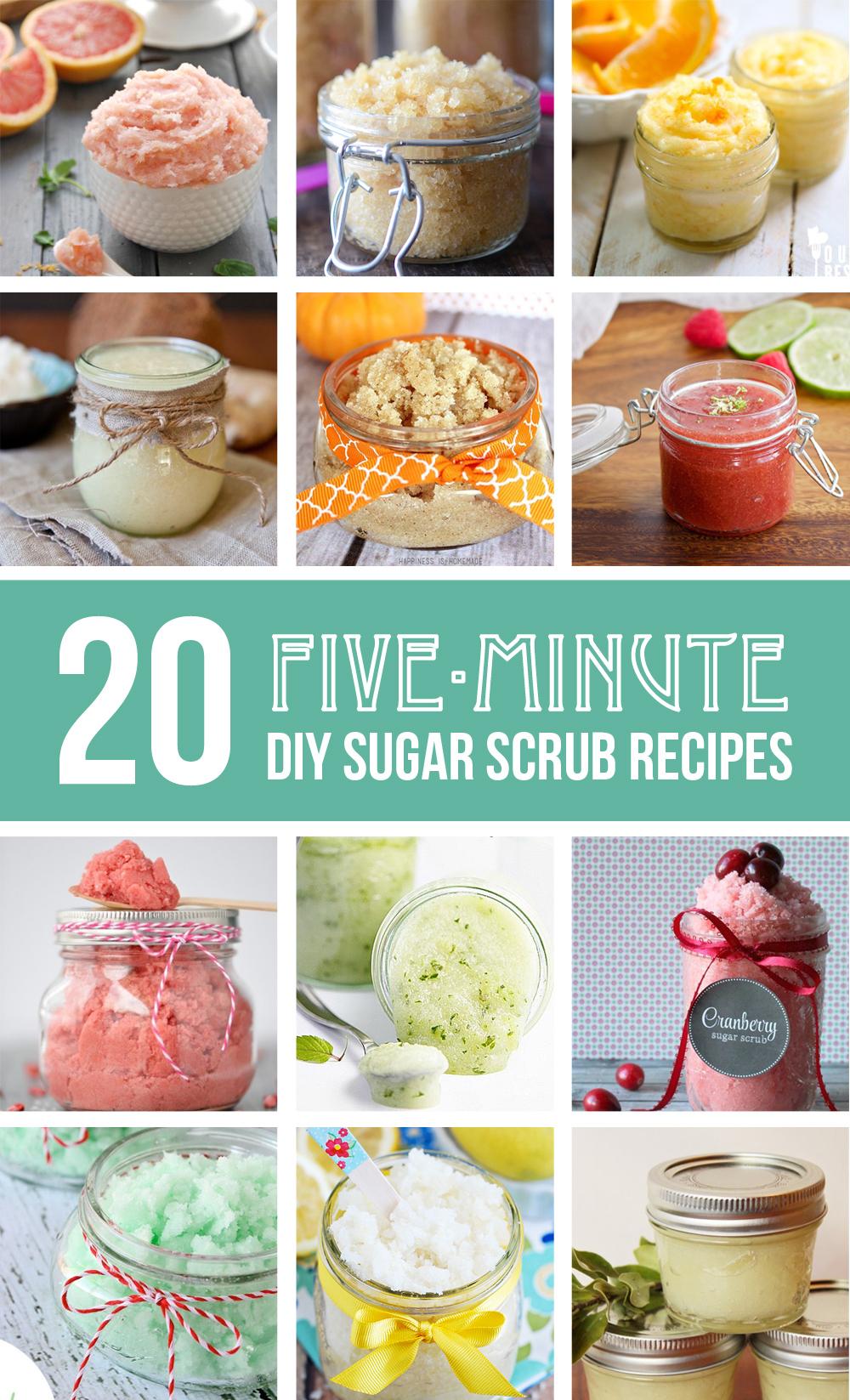 20 five-minute DIY Sugar Scrub Recipes