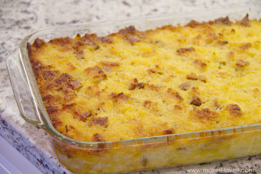 Sweet Pineapple Strata recipe | via Make It and Love It