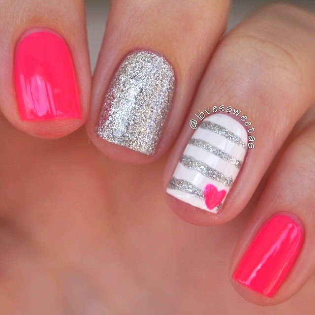 Cute nail designs we heart it : Crazy cute valentine s day nail art ideas make it and love