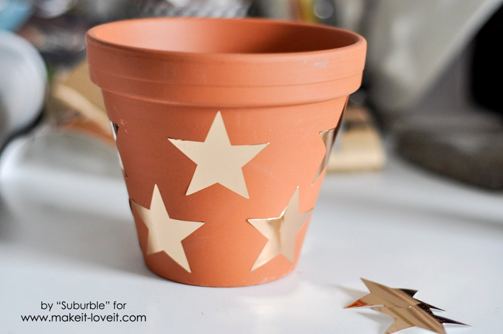 Gold Vinyl on Terracotta Plant Pots-8 copy