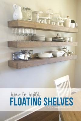 How To Build Simple Floating Shelves For Any Room In The