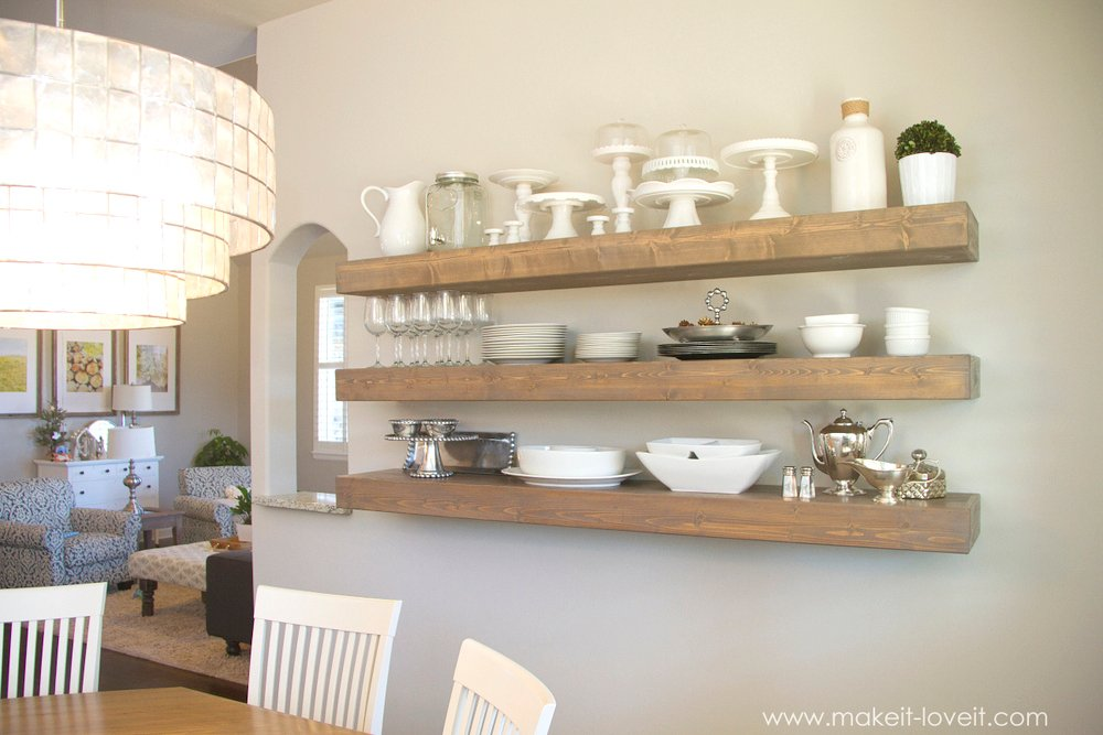 How To Build Simple Floating Shelves For Any Room In