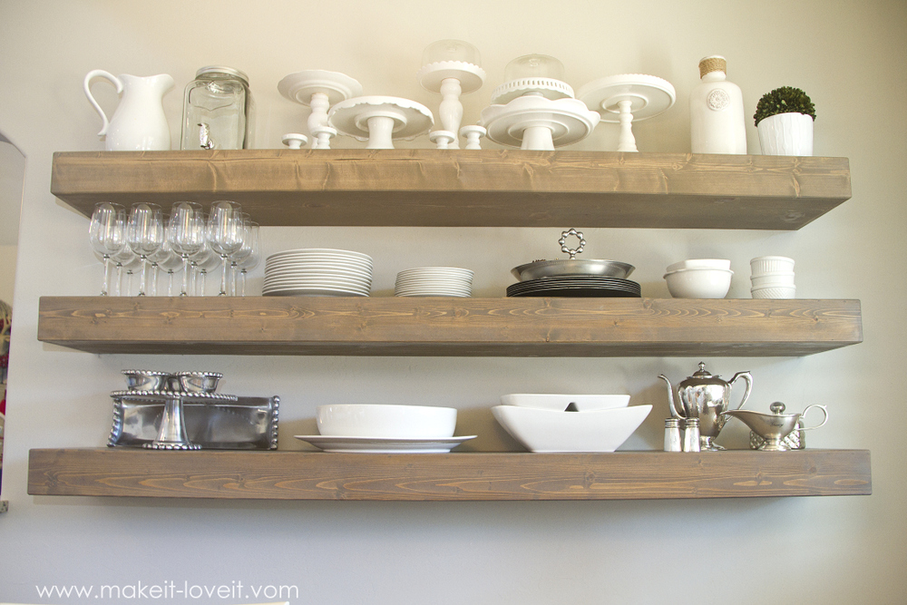 How to Build SIMPLE FLOATING SHELVES (...for any room in the house ...