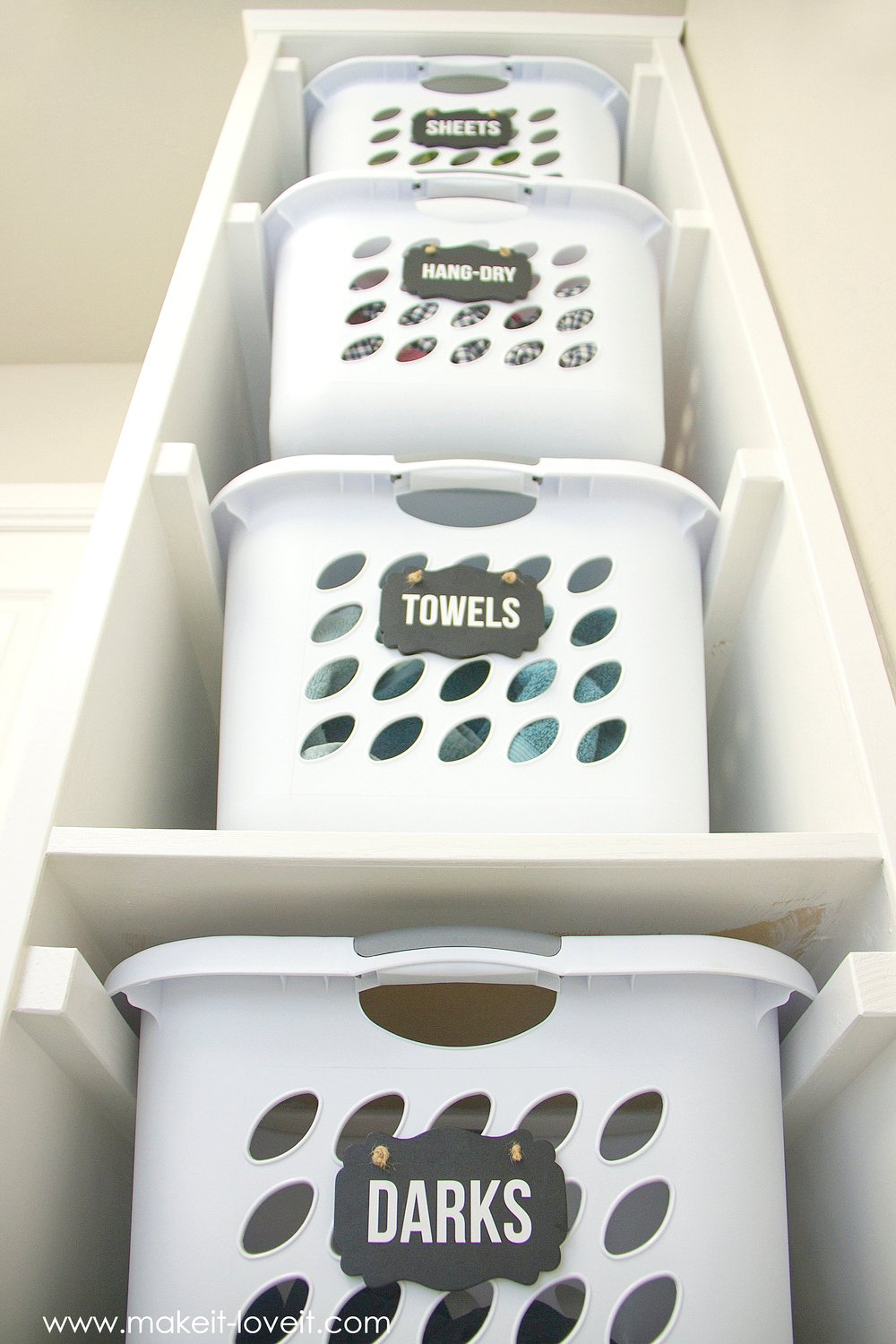 Laundry Basket Organizer (...Built In) | Make It and Love It