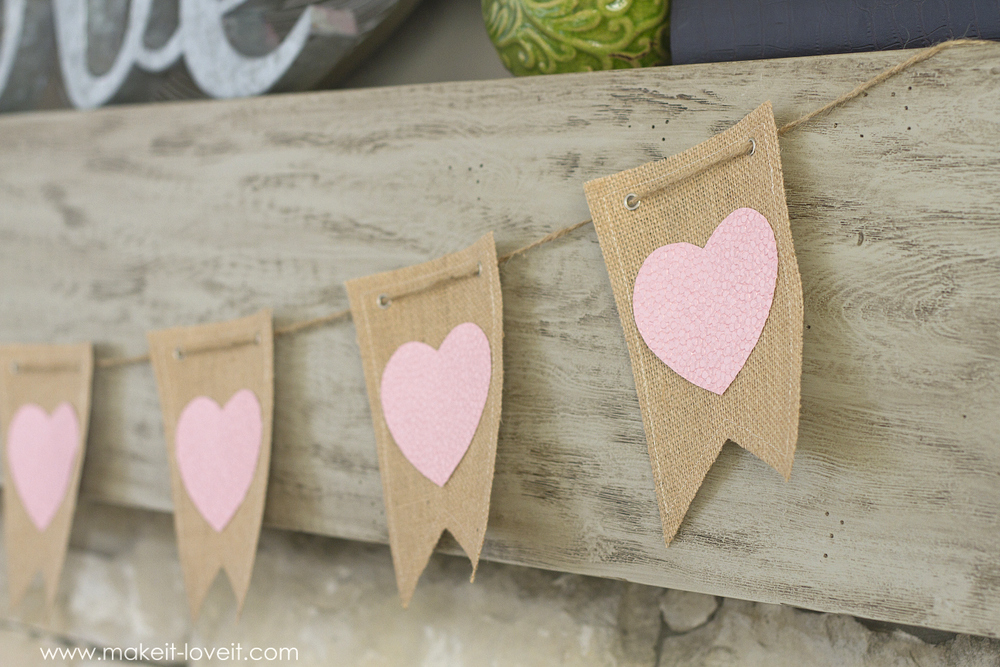 DIY Crepe Paper Rose Heart...inexpensive Valentine decor (or all year round!)