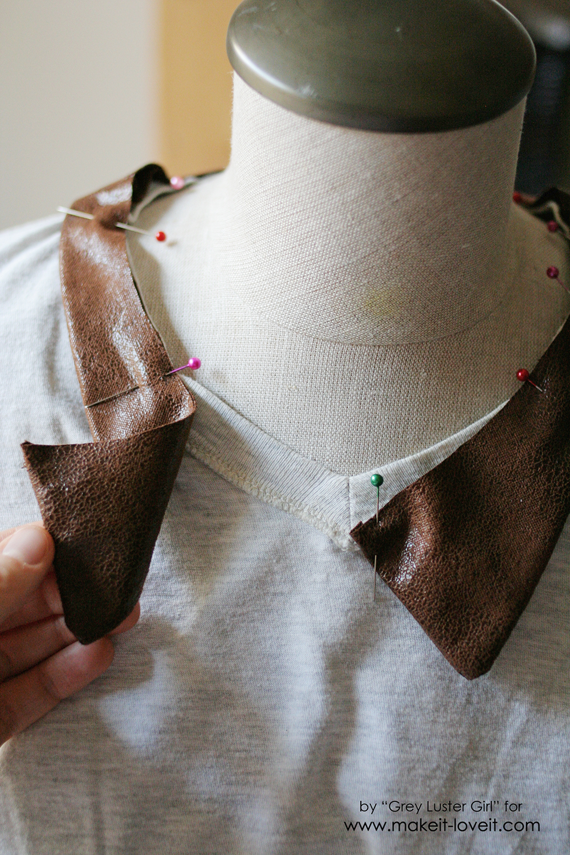 Leather Collar Shirt Refashion (12)