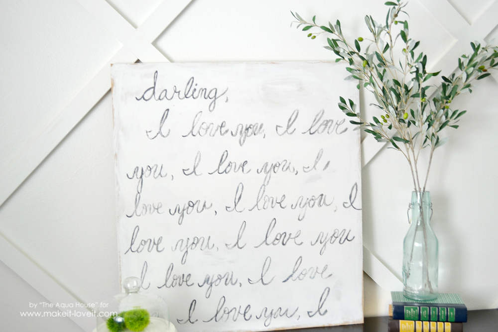 """Knock-Off """"Darling, I Love You"""" Sign 