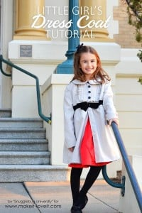 Little Girl's Dress Coat Tutorial | via Make It and Love It