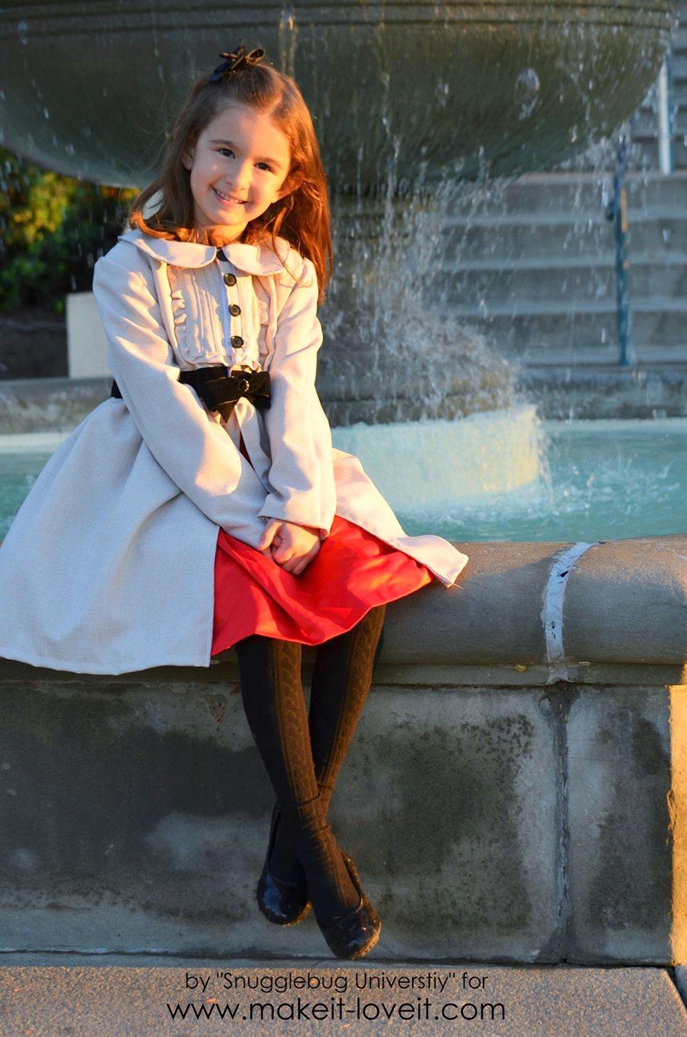 Little Girl's Dress Coat Tutorial   Make It and Love It