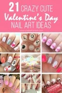 {21} Crazy Cute Valentine's Day NAIL ART IDEAS! | via Make It and Love It